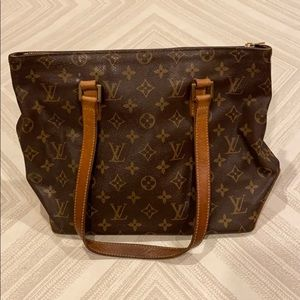 Louis Vuitton Cabas Piano Brown Leather Bag
